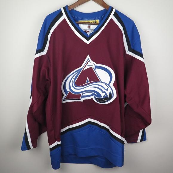 promo code 02c09 97d93 Colorado Avalanche NHL Blank Away 2003-04 Jersey